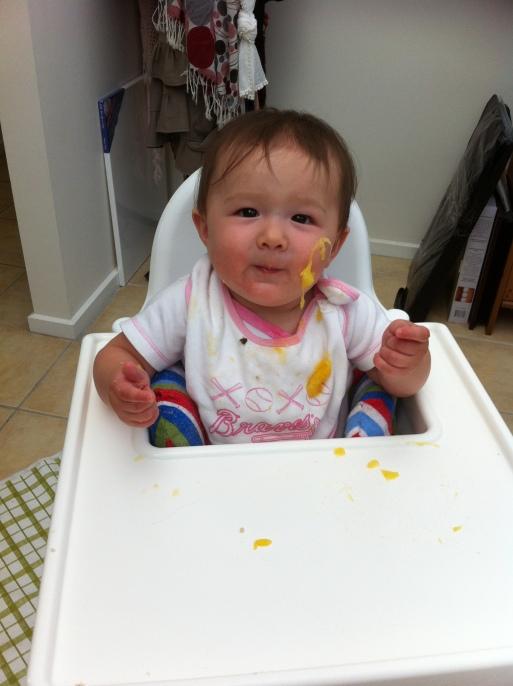 Arddun eating mango