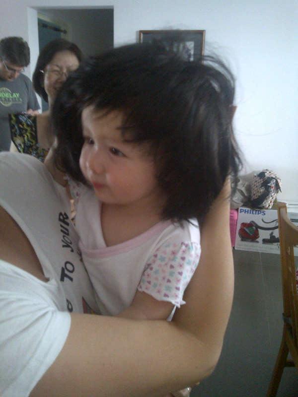 Arddun wears grandma's wig