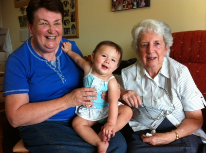 Nan, Great-Grandma Joan and Arddun