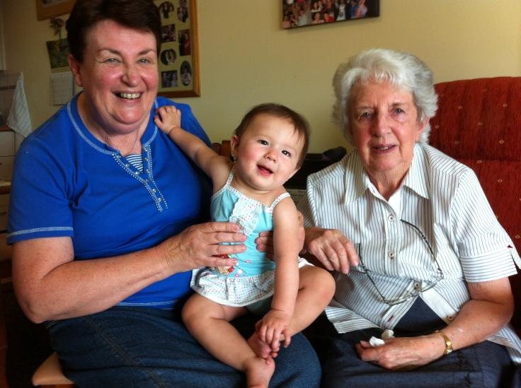Nan, Great-Grandma Joan and Arddun
