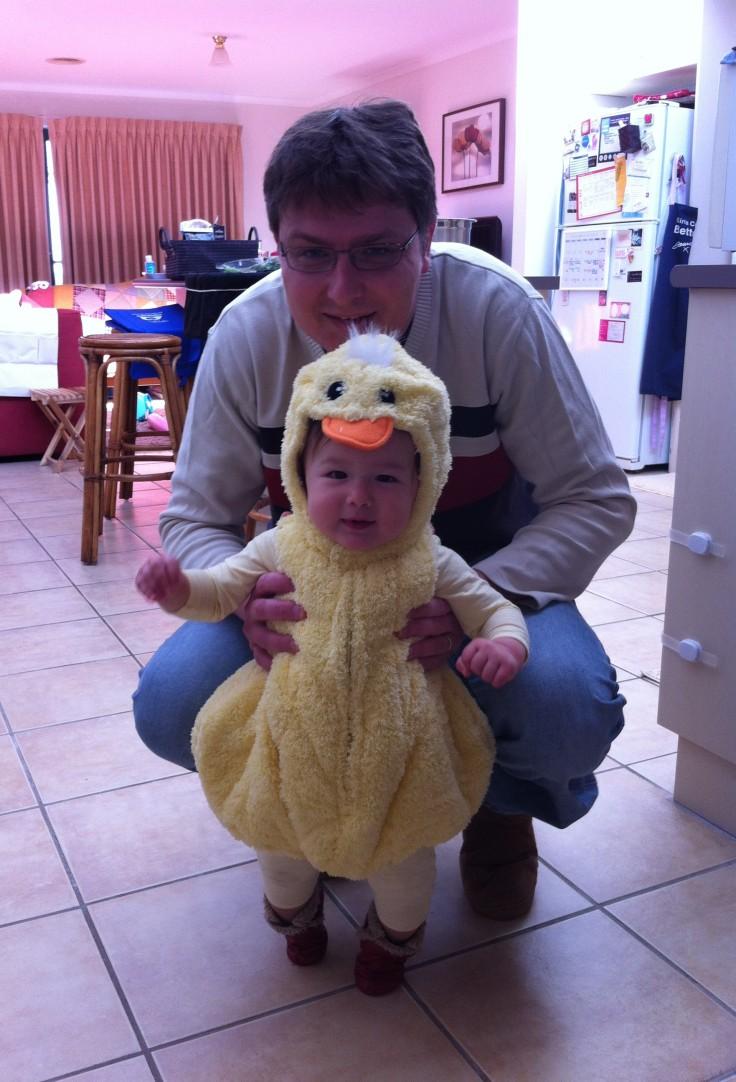 Arddun in a duck costume
