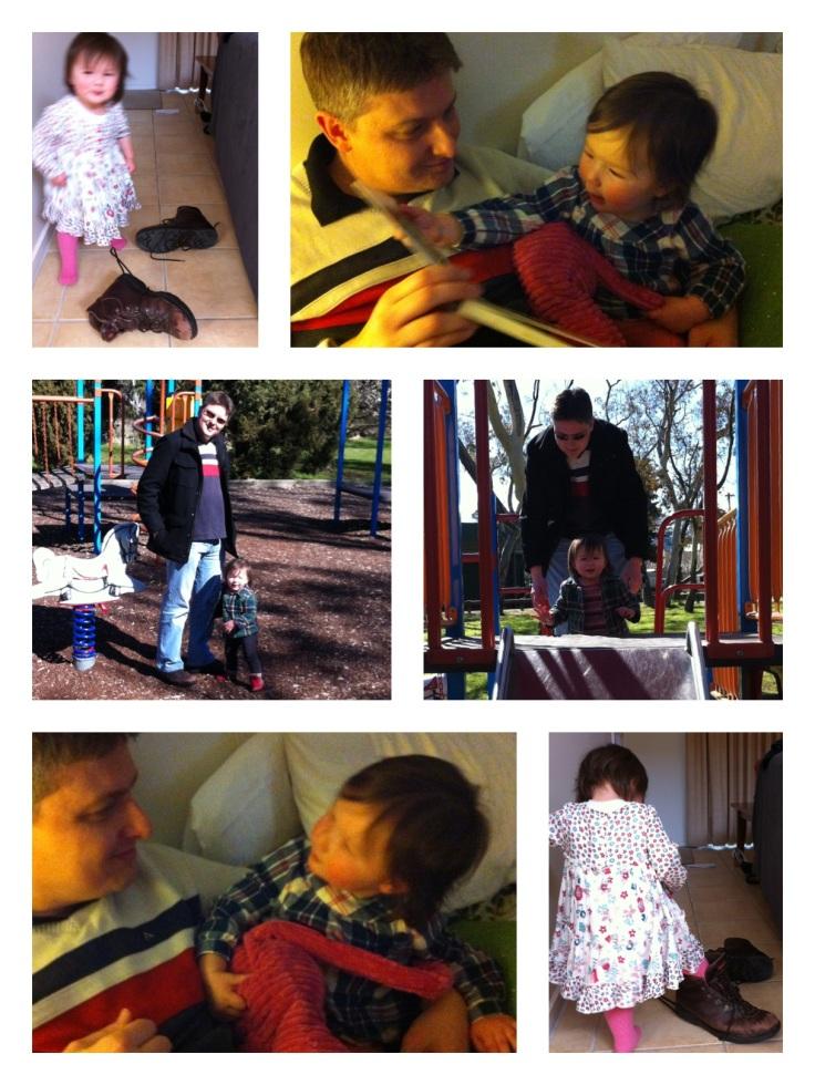Photo montage of Arddun and Tony