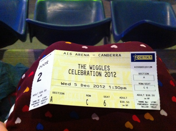 The Wiggles concert ticket