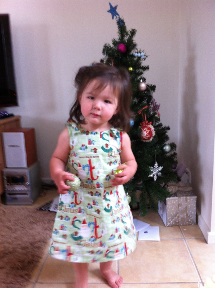 Front view of Christmas Dress