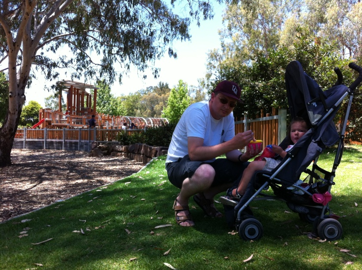 Tony and Arddun at Albury playground