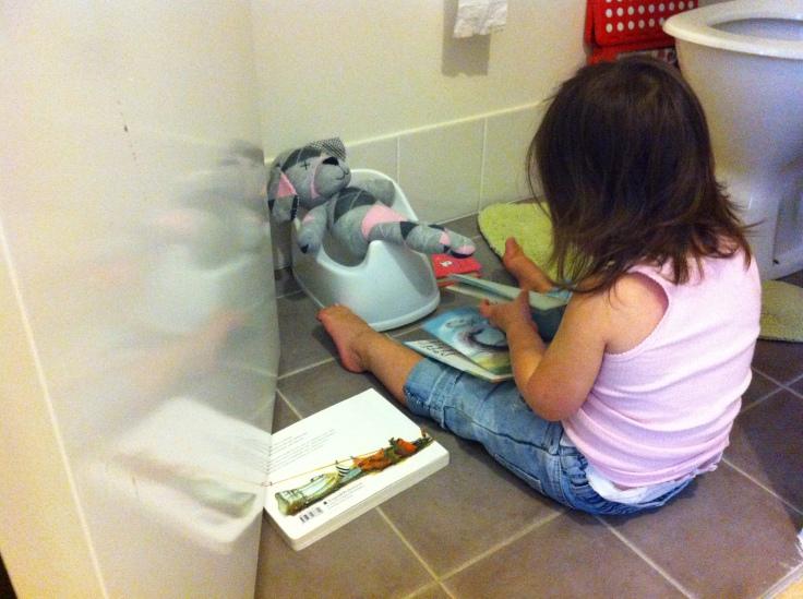 Arddun role-playing potty-training with Doggy Doo-Doo