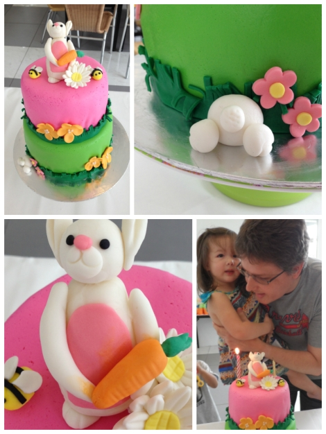 Birthday cake photo montage