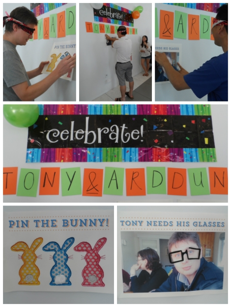 Party games photo montage