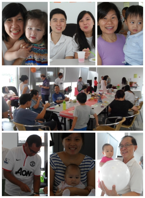 Tony and Arddun's birthday party guests montage 7 pictures