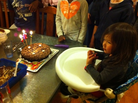 Waiting to blow out candles