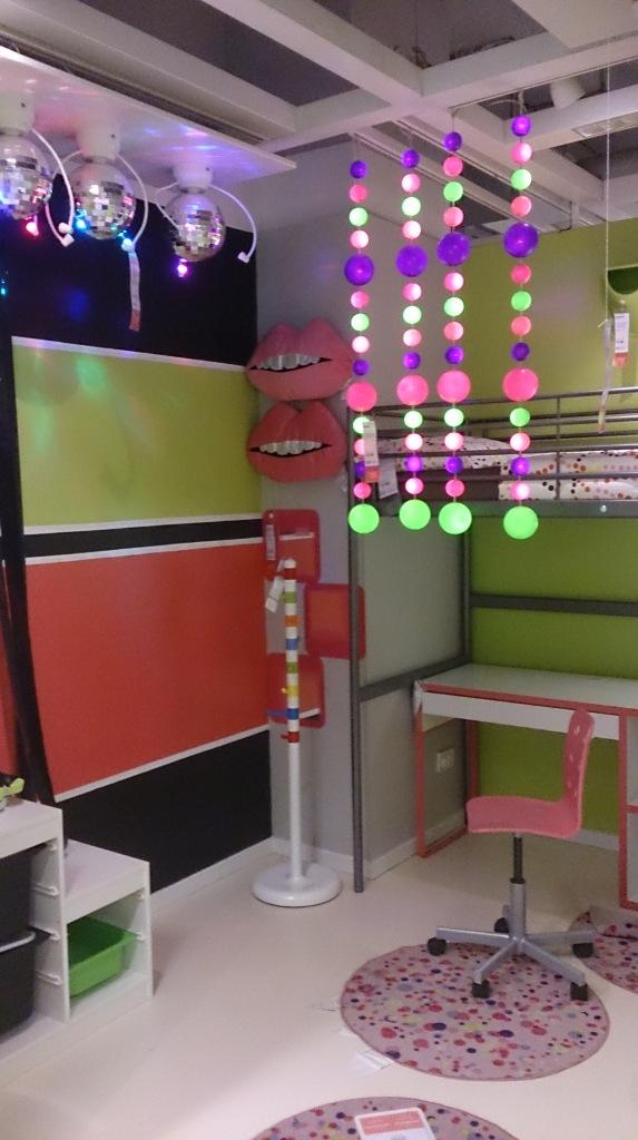 Disco balls in girl's bedroom