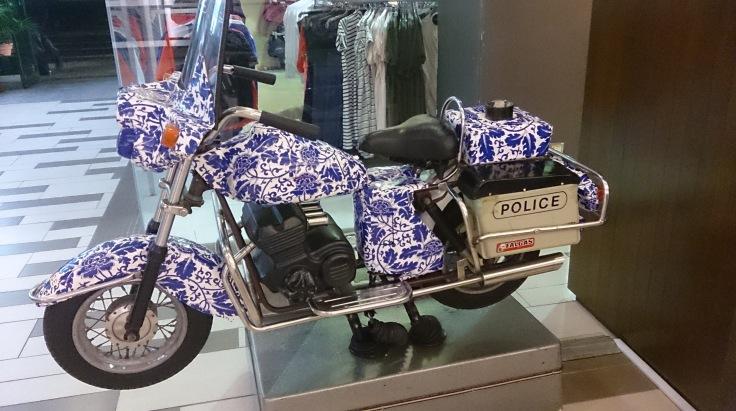 Rose-covered bike