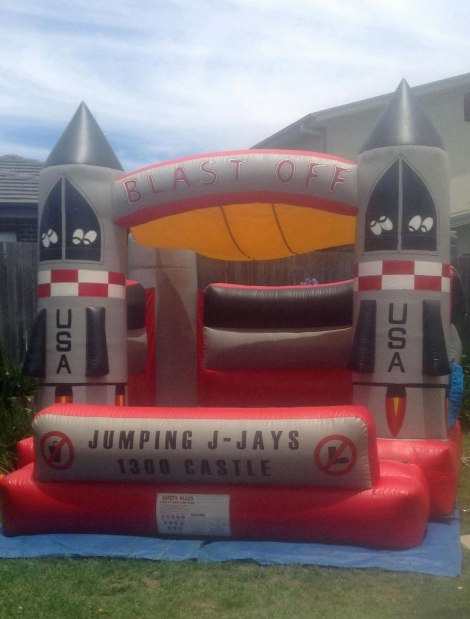 Jumping castle rocket thing