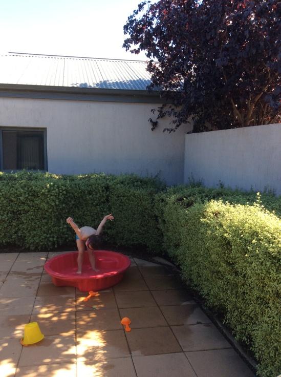 Arddun in her wading pool