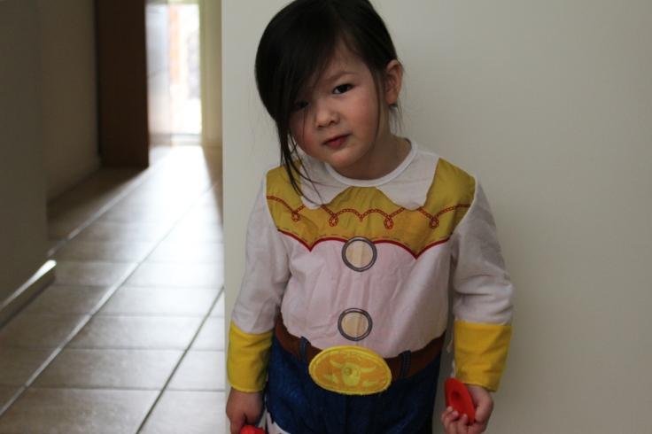 Arddun dressed as Jessie the Cowgirl