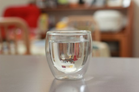 Canberra drinking water in a glass