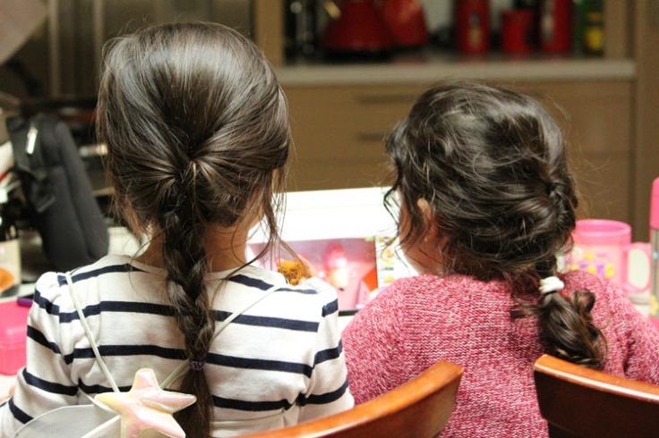 Plaited hair of Arddun and Leila