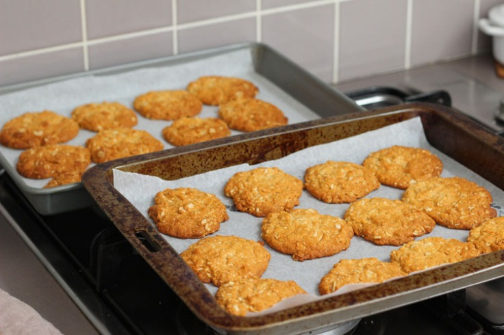Golden and perfect Anzac biscuits
