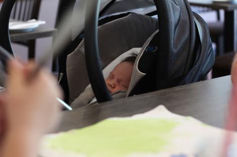 Atticus sleeping in capsule