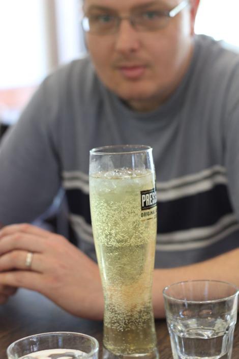 Long glass of beer