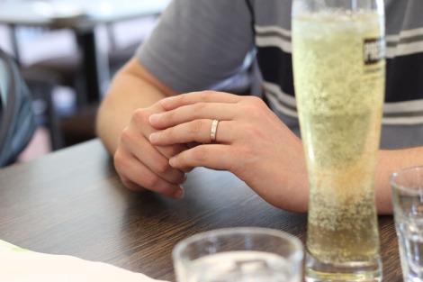 Close up of Tony's ring