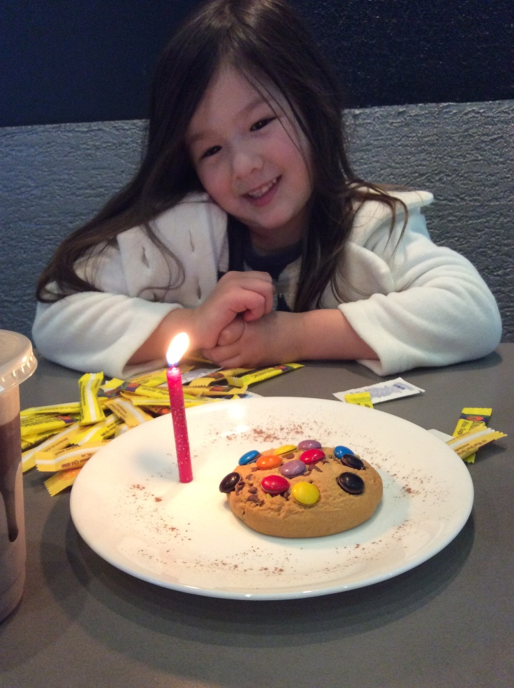 Arddun with birthday cookie