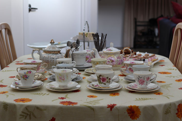 Table setting for tea party