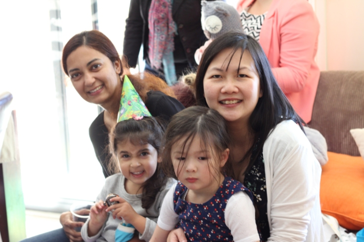 Fam, Leila, Arddun and me at Ivy's 4th birthday party
