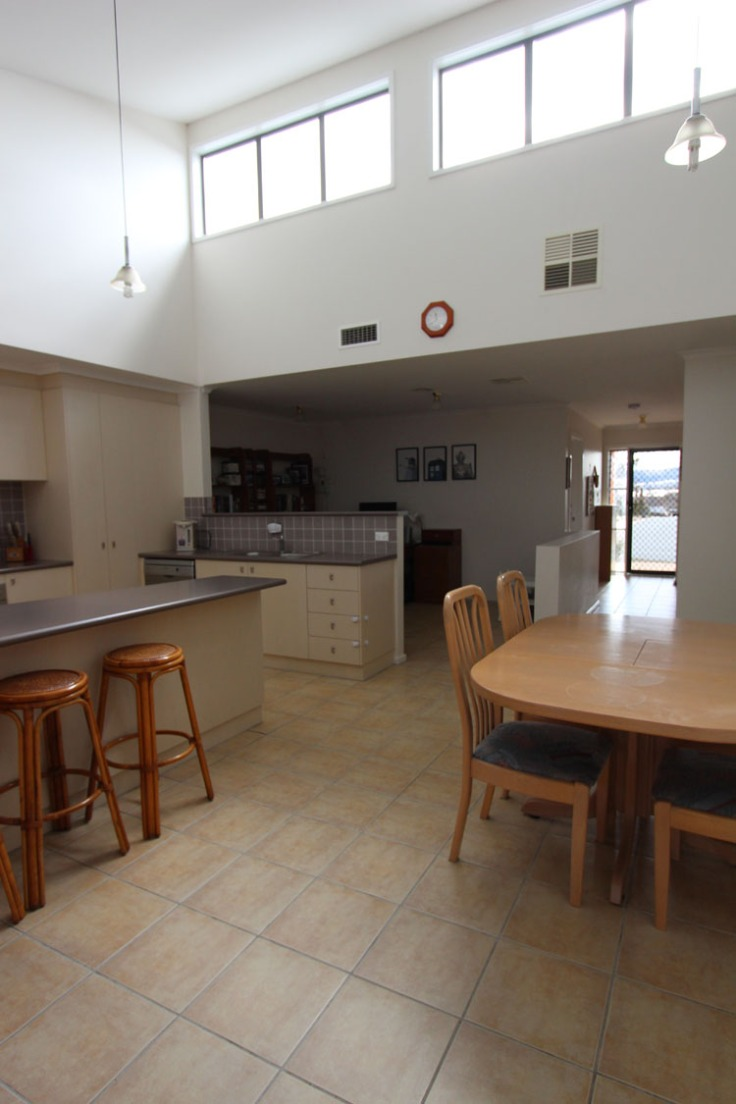 Main living area with skylight