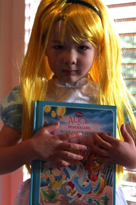 Arddun as Alice in Wonderland, mid-waist shot
